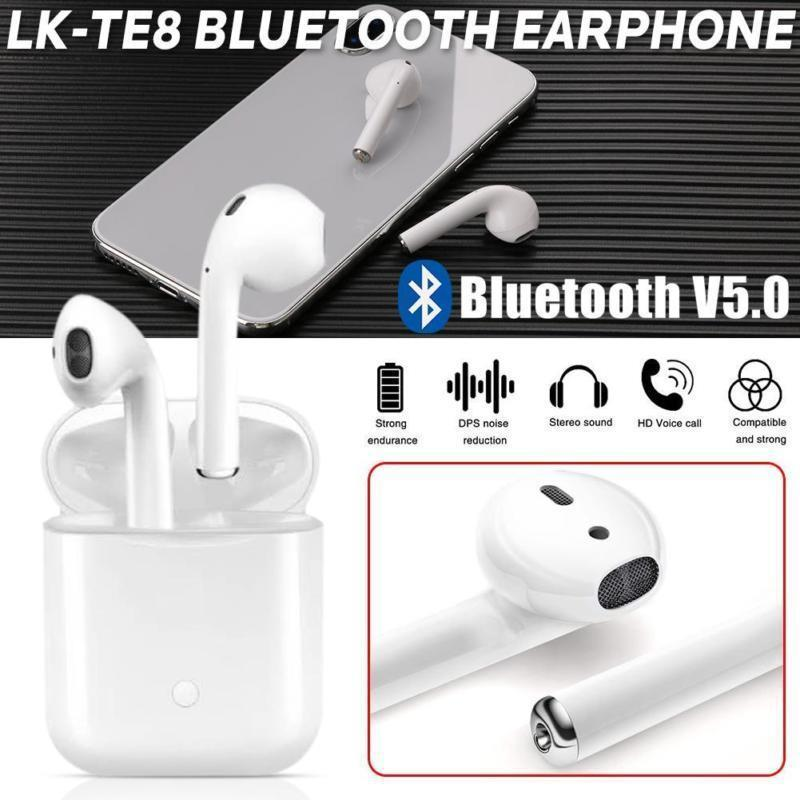 Cuffie LK-TE8 Auricolari Bluetooth Identiche Stessa Qualità Airpods ... 97daffaddbca