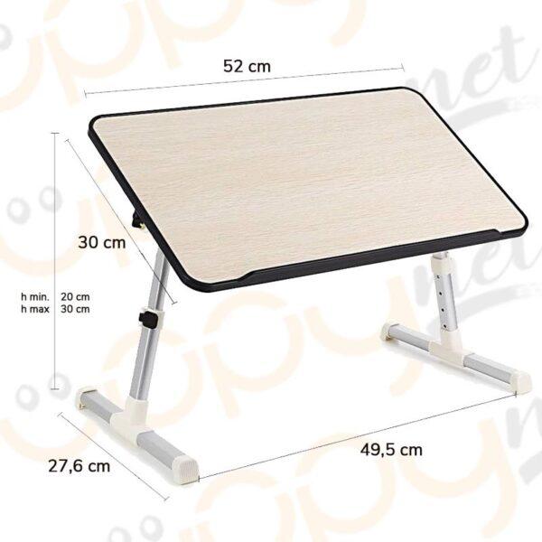 Tavolino Notebook Divano.Tavolino Vassoio Da Letto Divano Per Notebook Pc Laptop Pieghevole Leggio 52x30